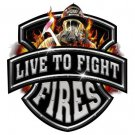 Live To Fight Fires Tee Shirt