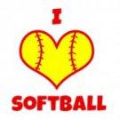 I Love Softball Tee Shirt