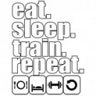 Eat Sleep Train Repeat Tee Shirt