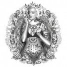 Marilyn Monroe Tattood Tee Shirt