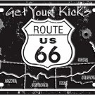 Get Your Kicks On Route 66 License Plate