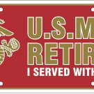 U.S.M.C. I Served With Pride License Plate