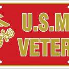 U.S.M.C. Veteran License Plate