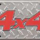 4x4 License Plate