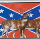 Confederate Rebel Deer License Plate