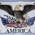 American Flag Eagle License Plate