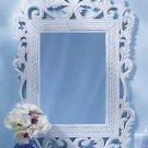 Ornate Distressed Finish  White Mirror