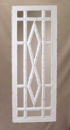 Cottage Charm Window Pane Mirror Style