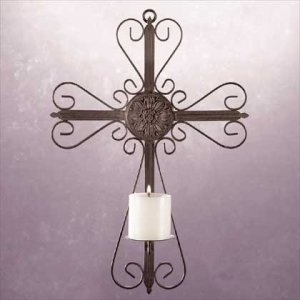 Wrought Iron Metalic Finish Wall Cross