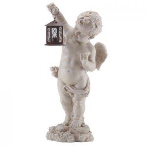 Cherub Garden Lantern Statue
