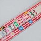 Sanrio Hello Kitty White Plastic Chopsticks 16.5cmL Made in Japan