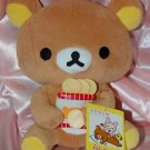 "San X Rilakkuma Relax Bear Soft Plush Doll 8"" H"