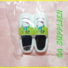 2005 Sanrio Bandai Retro Collection MINI Hello Kitty Magnet #10 White Slipper