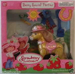 2003 Bandai Strawberry Shortcake Berry Special Parties Champion Honey Pie Pony