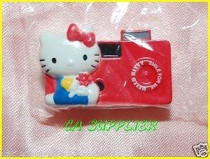 2005 Sanrio Bandai Retro Collection MINI Hello Kitty Magnet #8 Red Camera