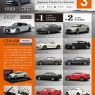 F Toys Japan Japanese Classic Car Selection 3 Nissan GT-R R32 R35 FULL Set of 10