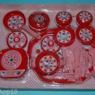 USED 2000 Sanrio Hello Kitty Tin Plastic Kitchen Cooking Set Roleplay Toys 28 pc