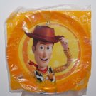 "Disney Pixar Toy Story 3 Woody - 8"" Round Orange Plastic Plate"