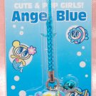 Japan Brand Angel Blue Plastic Figure Strap Charm Mascot