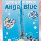 Japan Brand Angel Blue Plastic Figure Strap Charm Mascot
