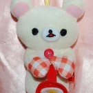 2013 San X 7-11 Rilakkuma Ko-Rilakkuma Relax White Bear Cooking Collection Plush Doll Strap
