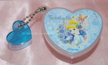 "Yujin Disney Princess CINDERELLA Heart Shape Mirror Key Chain Gashapon Capsule Toy 2""dim"
