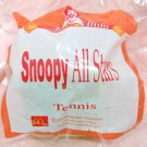 1996 McDonald's Peanuts Happy Meal Toy Snoopy All Stars Figure - Tennis Player