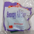 1996 McDonald's Peanuts Happy Meal Toy Snoopy All Stars Figure - Soccer Football Player