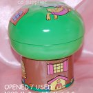 "USED 1999 McDonald's Birdie GREEN Metal Tin Can Container 4.5"" x 5"" H"