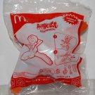 2009 McDonald's Happy Meal Toy Mini Doraemon on Bird Sticker Dispenser Figure