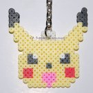 Perler Beads Hand Craft Art Pokemon Pikachu Head Figure Key Ring Charm Mascot