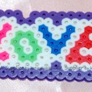Perler Beads Hand Craft Art Valentine LOVE Key Ring Chain Charm Mascot
