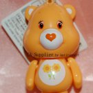 Sega UFO Catcher Prize ORANGE Care Bear Strap Charm Mascot w/ Lobster Clip