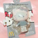 Sanrio McDonald's Hello Kitty Grey KittyBrick Figure Phone Strap Charm
