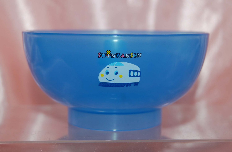 Shinkansen Semi Transparent MINI BLUE Rice Noodle Soup Bowl for Kids Made in Japan
