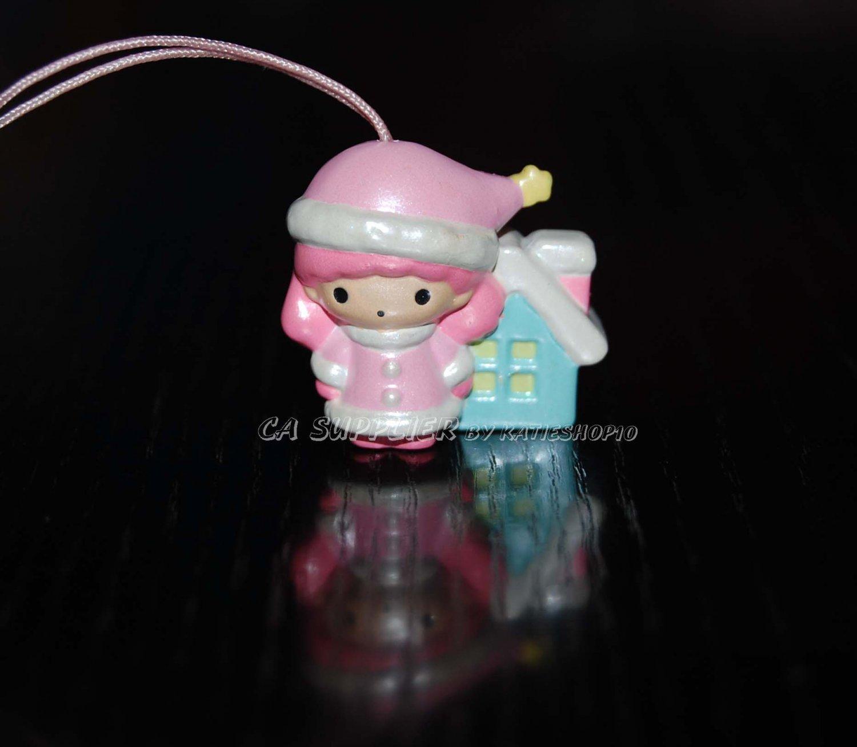 "Bandai Sanrio Little Twin Star Lala 30th Anniversary Mascot Strap Charm 1""H"