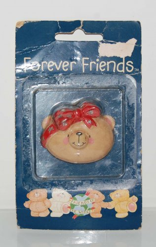 """Andrew Brownsword Forever Friends Bear Head Magnet 2""""H #2"""