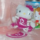 2006 Sanrio 7-11 Hello Kitty Plush Charm Strap Mascot w/ Metal Tin Can 12 September Cornflower