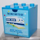 USED 2004 Sanrio Shinkansen Blue Plastic Cabdy Cabinet Box Drawer