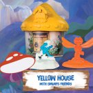 2017 McDonald's Smurfs The Lost Village - Yellow House with Smurfs Friends