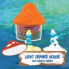 2017 McDonald's Smurfs The Lost Village - LIGHT ORANGE House with Smurfs Friends