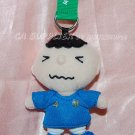 2010 Sanrio 7-11 World Cup Minna no tabo Football Italy Plush Doll Key Ring