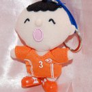 Sanrio 7-11 World Cup Minna no tabo Football Netherlands Plush Doll Key Ring