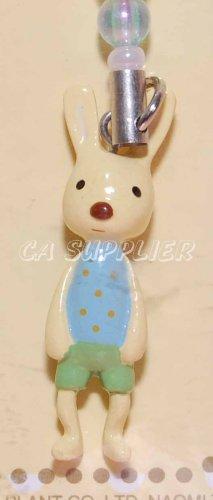 "Le Sucre Rabbit Cell Phone Strap Charm Mascot 1.5""H"