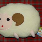 "2002 Capcom Hitsuji No Kimochi White Plush Cushion UFO Catcher Prize 13""W x 9""H"
