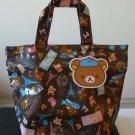 San X Rilakkuma Bear Vinyl Plastic Shopping Tote Bag