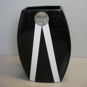 Elegant Black Ceramic Vase 60469