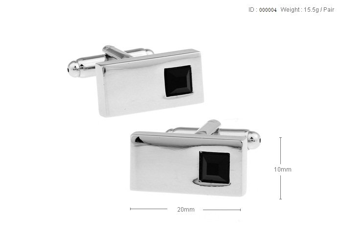 Free shipping to US High quality elegant small white crystal cufflinks for men
