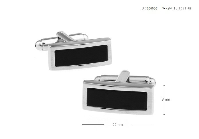 Free shipping new men cuffKing supreme black agate arch surface rectangle cufflinks
