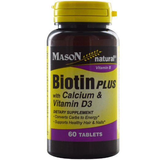 Mason Natural, Biotin Plus, with Calcium & Vitamin D3, 60 Tablets